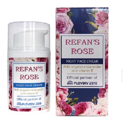 Ноќен крем за лице Refan's Rose